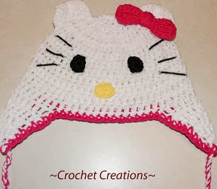 PATRON GRATIS GORRO HELLO KITTY DE CROCHET 3223