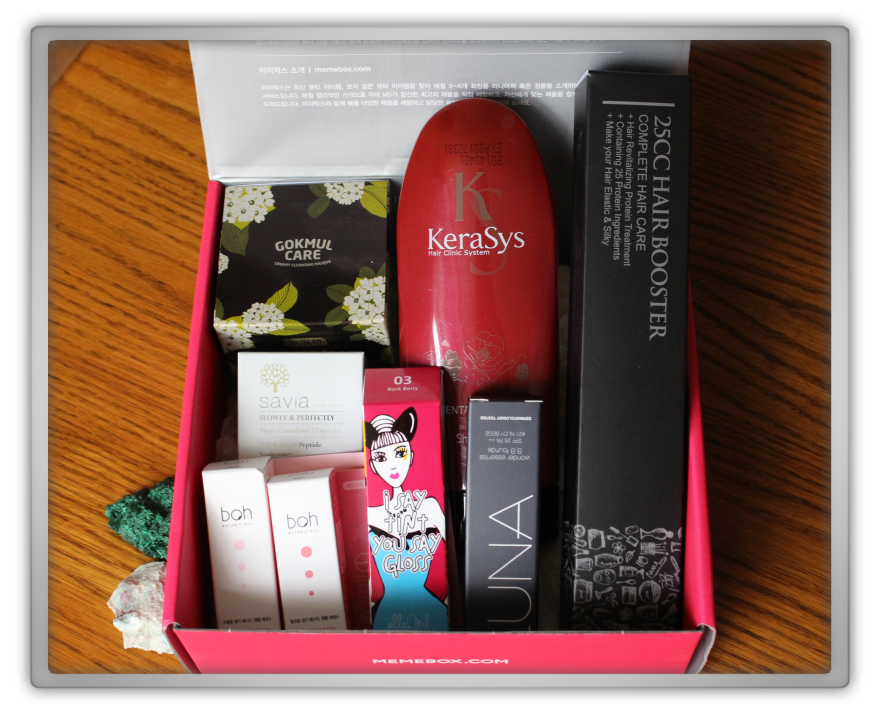 겟잇뷰티박스 by 미미박스 memebox beautybox Global #9 unboxing review preview box look inside
