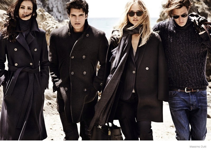 Sasha Pivovarova stars in the Massimo Dutti Fall/Winter 2014 Campaign