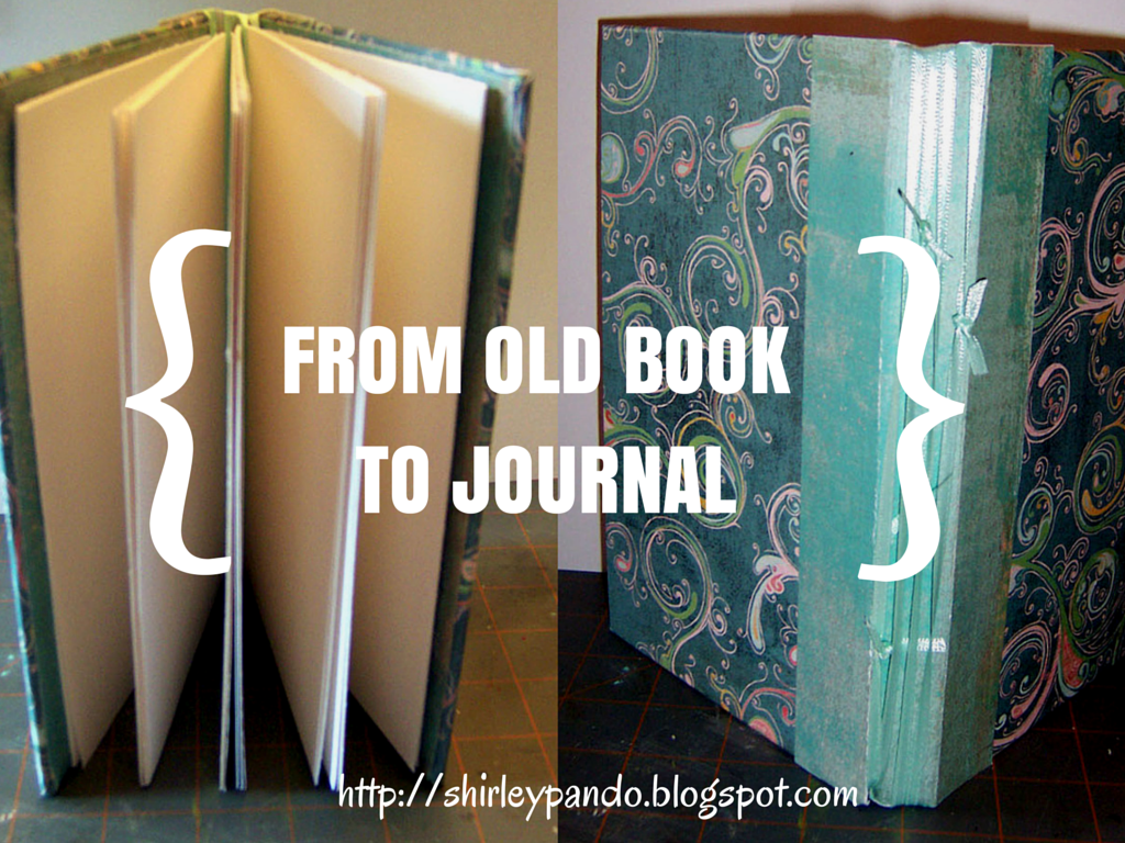 repurposed book made into journal