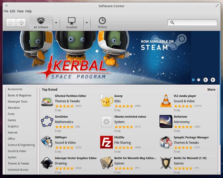 Luna Software center Games