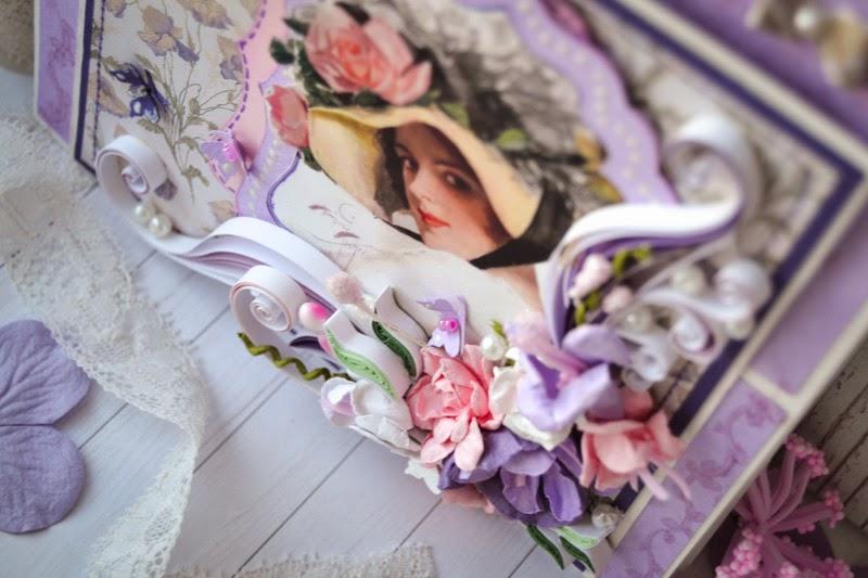 открытка подстава для бумаг сиреневые цветы
