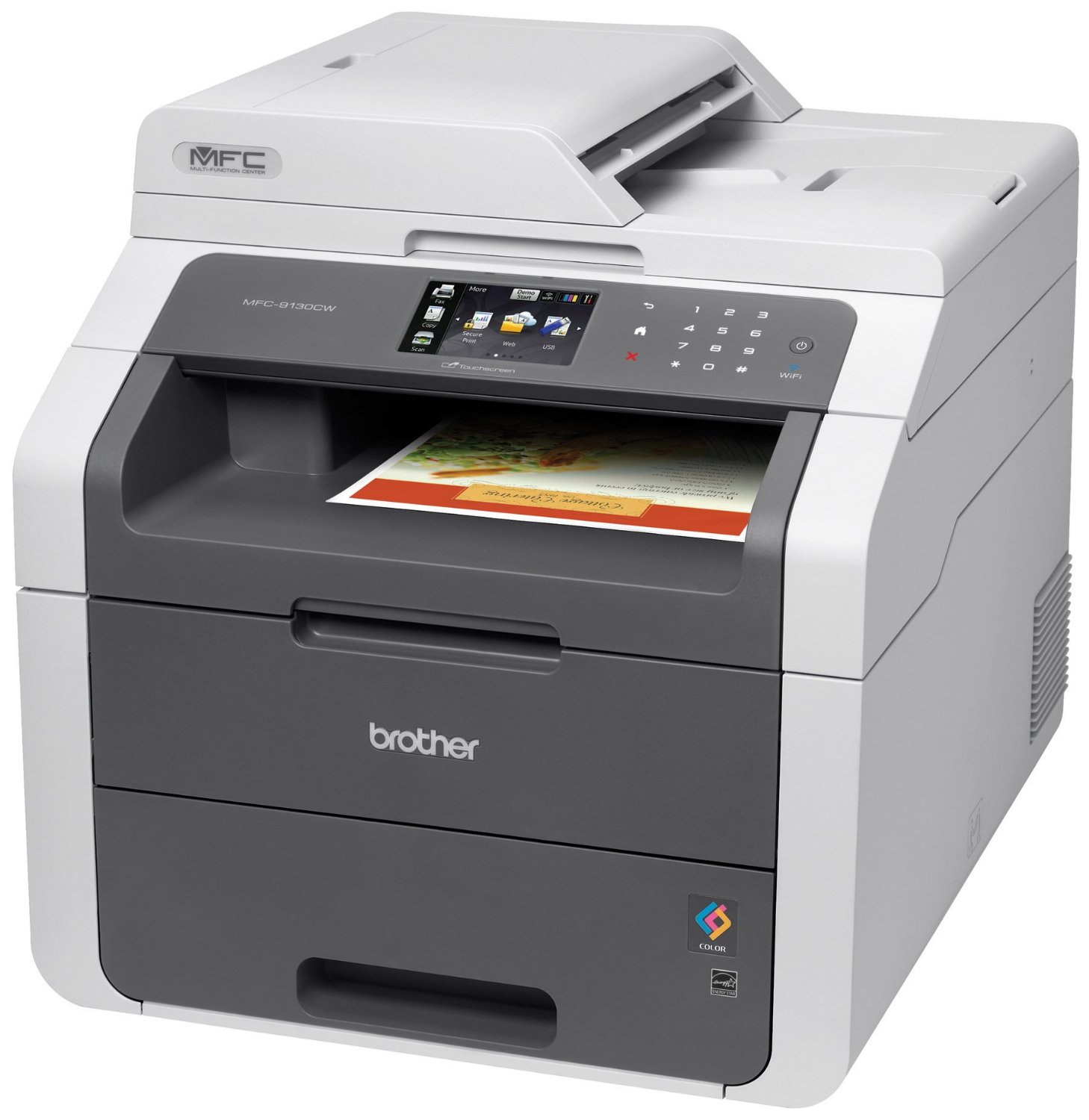 Brother printer mfc9130cw wireless all in one color printer with