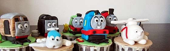 Header picture of Thomas The Train cupcakes