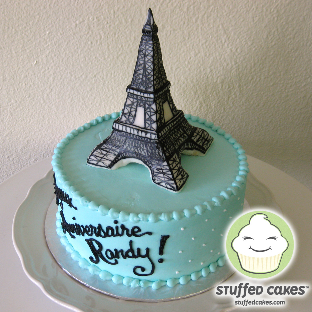 How to Make an Eiffel Tower Cake