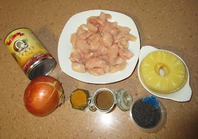 pollo al curry con leche de coco alocados en la cocina