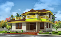 Evens Construction Pvt Beautiful Kerala Home In 228