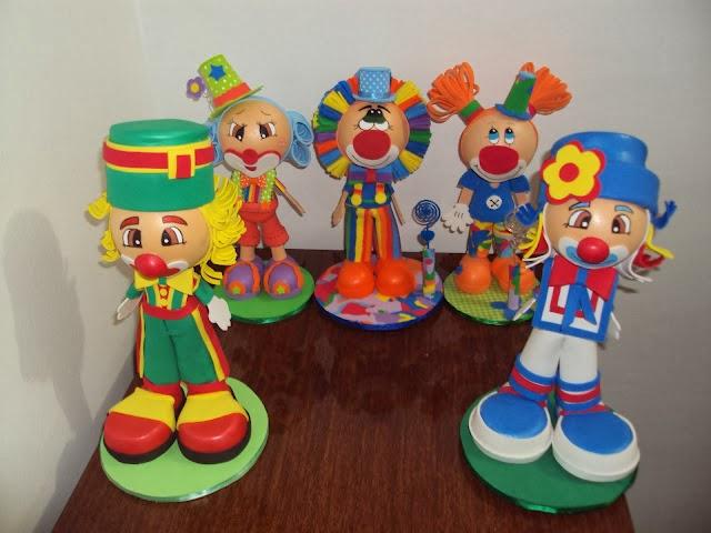 Centros de mesa infantiles con payasos - Imagui