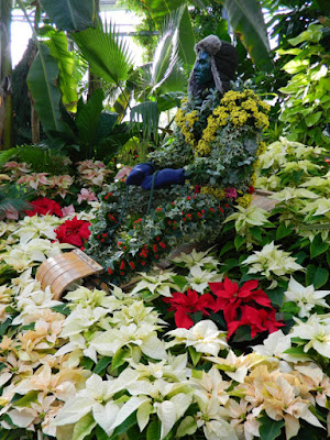 Floral tobogganer at Allan Gardens Conservatory Christmas Flower Show 2015 by garden muses-not another Toronto gardening blog