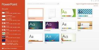 Membuat File Baru PowerPoint 2013