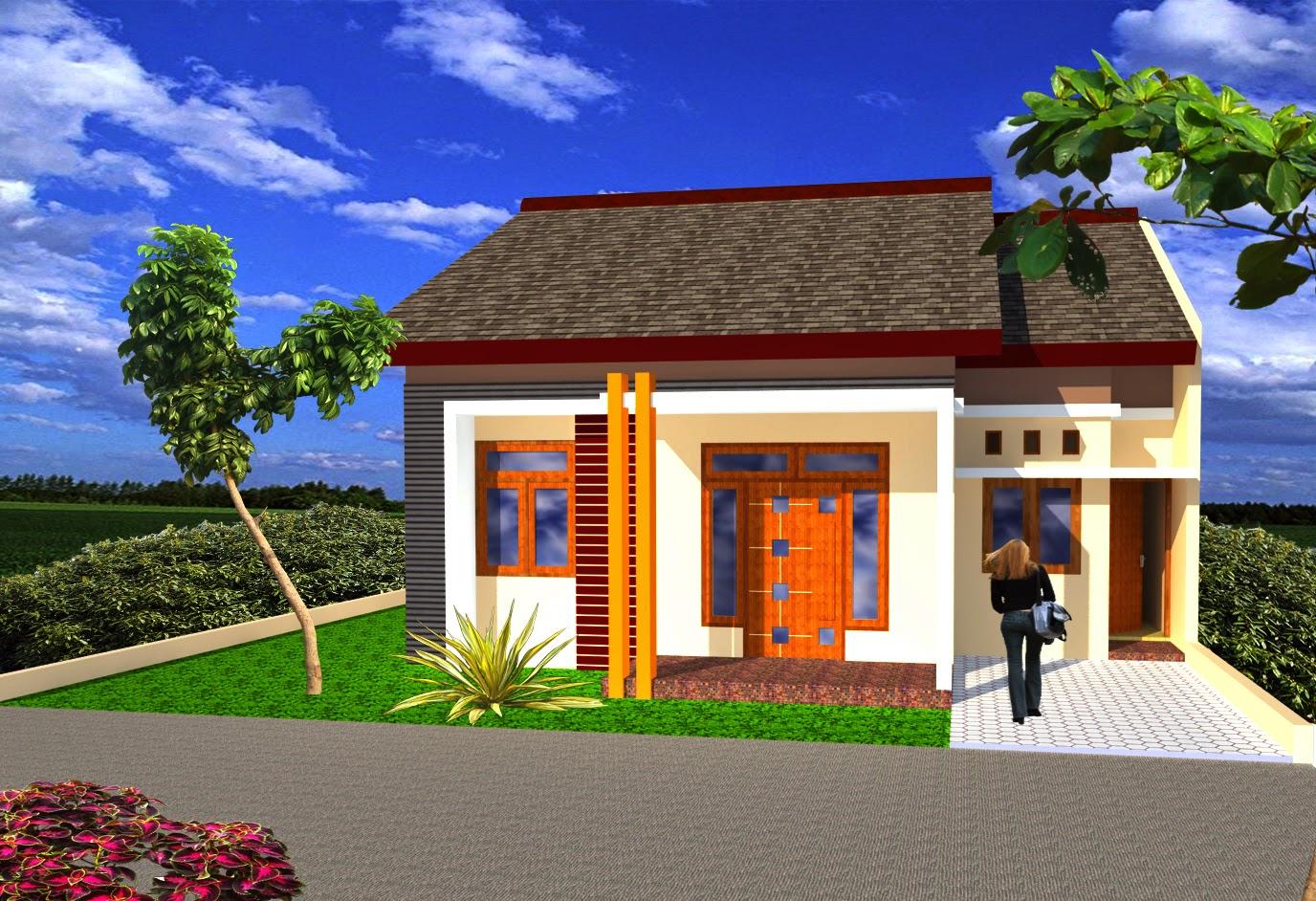 Desain Rumah Minimalis Dengan Batu Alam Alur Simetris