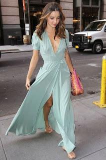 vestido longo mint green
