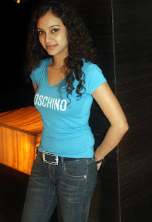 Rupa Manjari in T shirt and Jeans at Sathyam Cinemas Latest Exclusive Picture Gallery