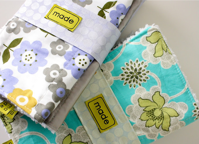 Celebrate baby tutorial burp cloth gift sets made