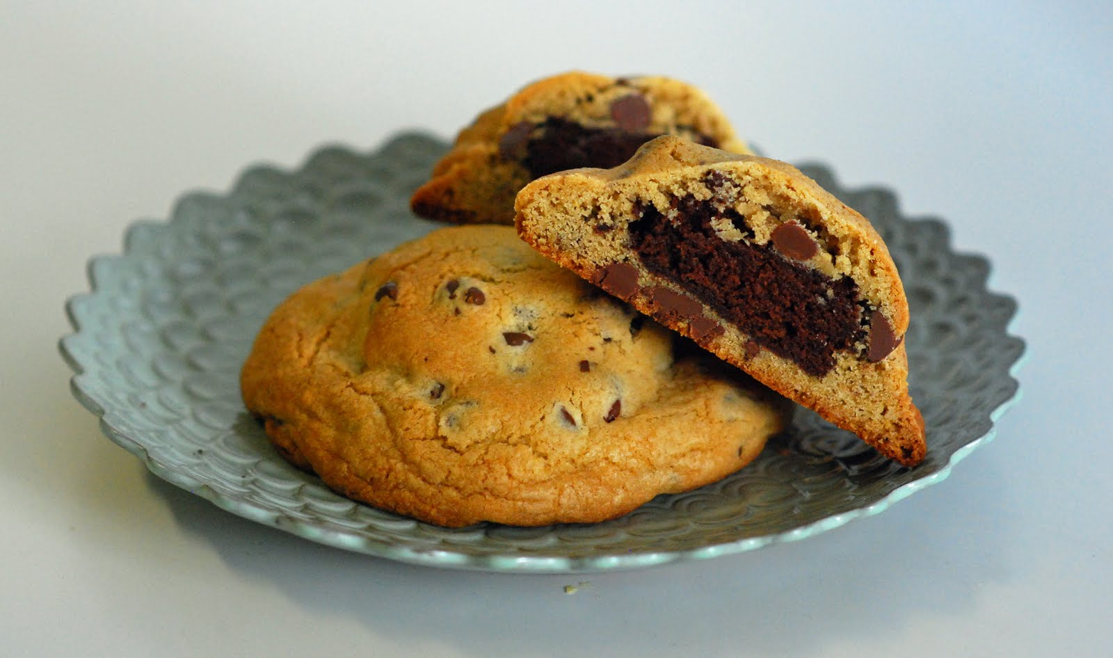 The Sweet Swiper: Brownie Stuffed Chocolate Chip Cookies