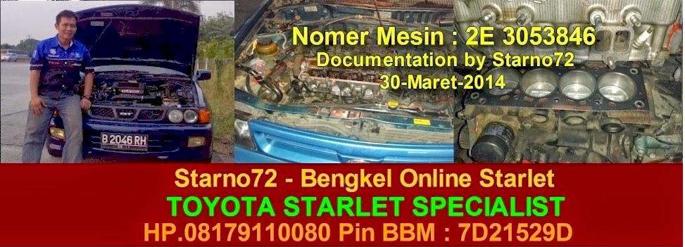 Starno72<br> Bengkel Online Starlet<br>HP.08179110080<br>PIN BBM 7D21529D