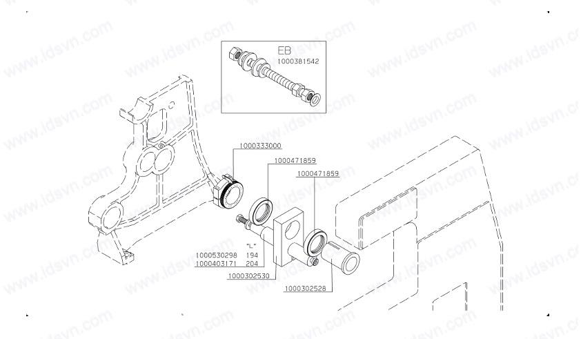 hks 2 ek-page-shaft bearing side frame part