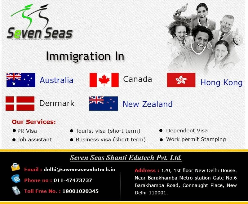 Canada immigration consultant in Delhi, india, seven seas, sevenseas, sevensseasedutech, Canadian permanent residency visa, Canada immigration consultant in Delhi, India
