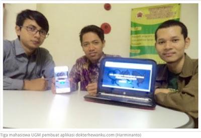 Aplikasi karya Mahasiswa UGM untuk menjembatani warga dengan dokter hewan