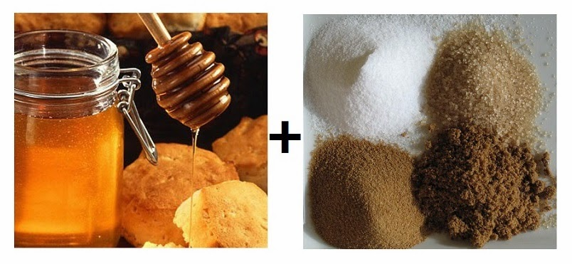 triki kosmetyczne peeling z miodu i cukru