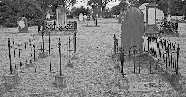 Image of two old graves - cemetery photography