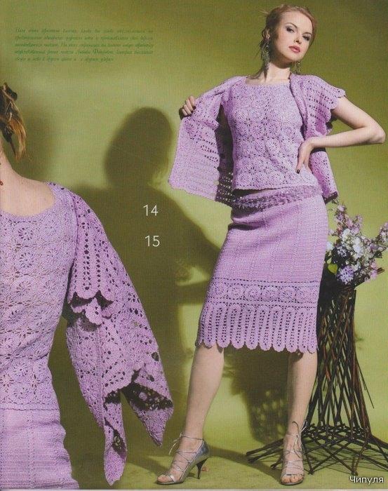 Вязание женских костюмов 12