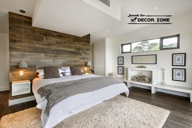 creative bedroom design ideas single wood wall - Wood Wall Design Ideas