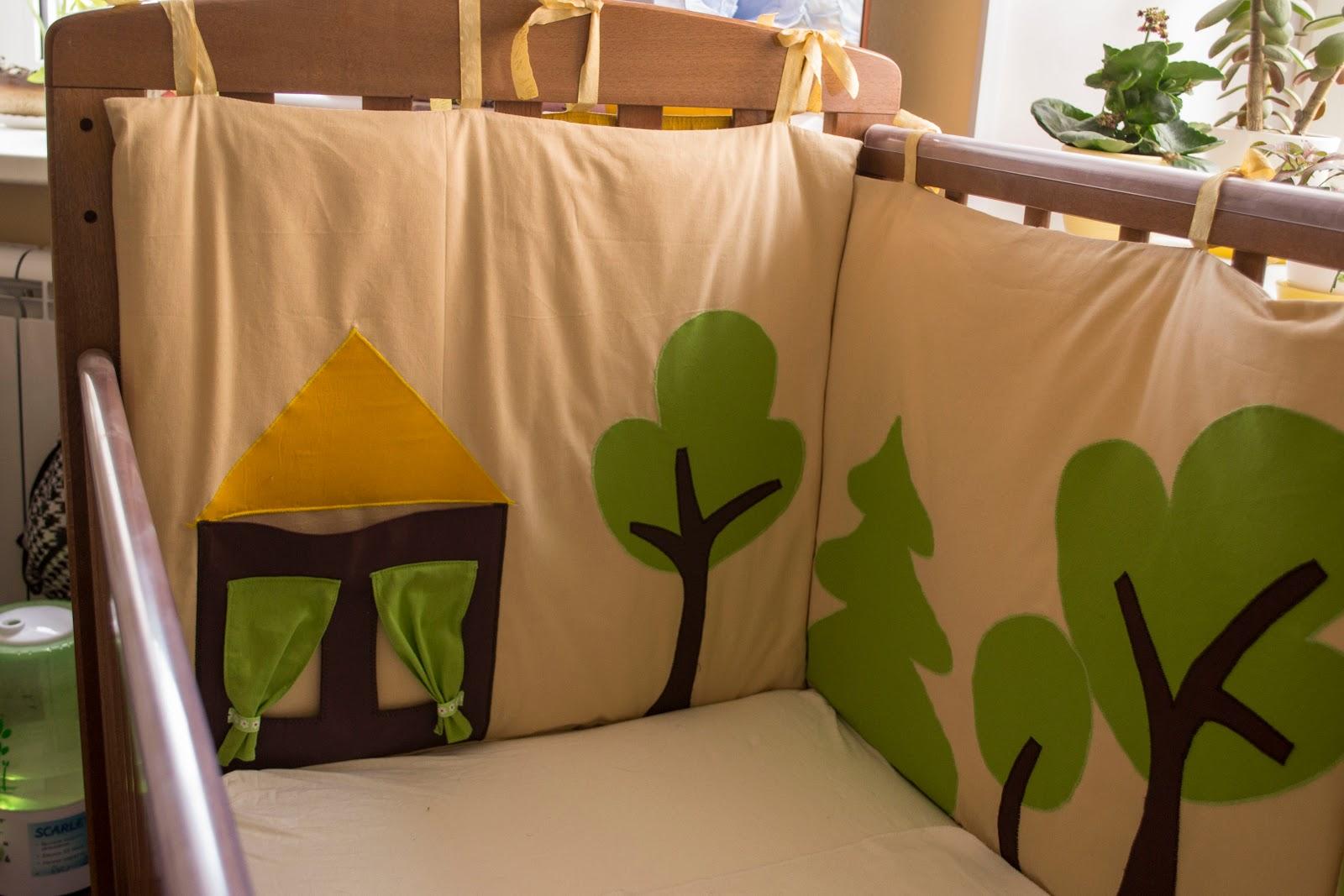 Бортики в детскую кроватку для новорожденных своими руками 10
