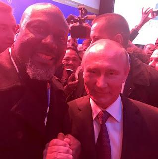 Dino Melaye, Vladimir Putin meet in Moscow