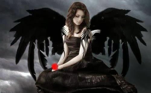 Disfraz de angel negro para Halloween