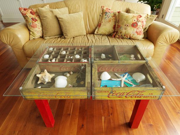 Inside the brick house clever ways to repurpose and for How to make a coffee table out of crates