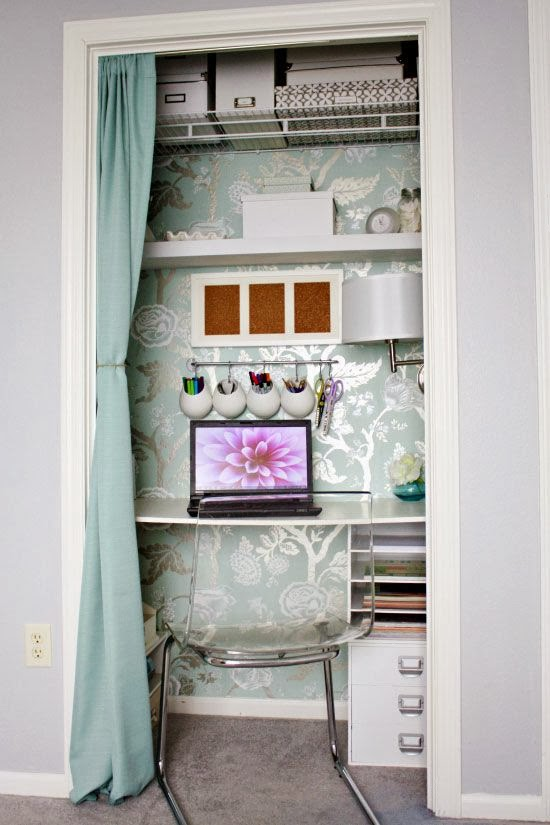 The classy woman design inspiration craft rooms for Transform small closet space
