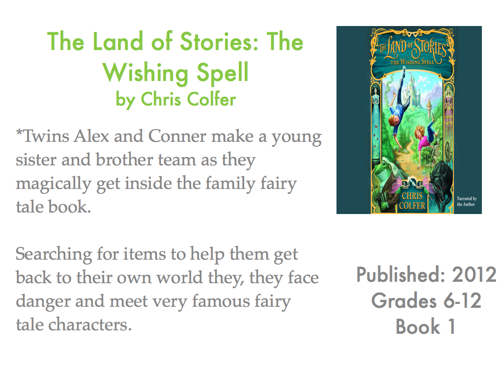 young adult reading machine: the land of stories: the wishing spell
