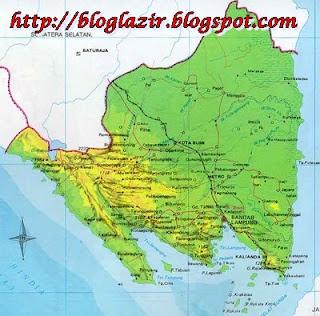 Gambar Peta Provinsi Lampung