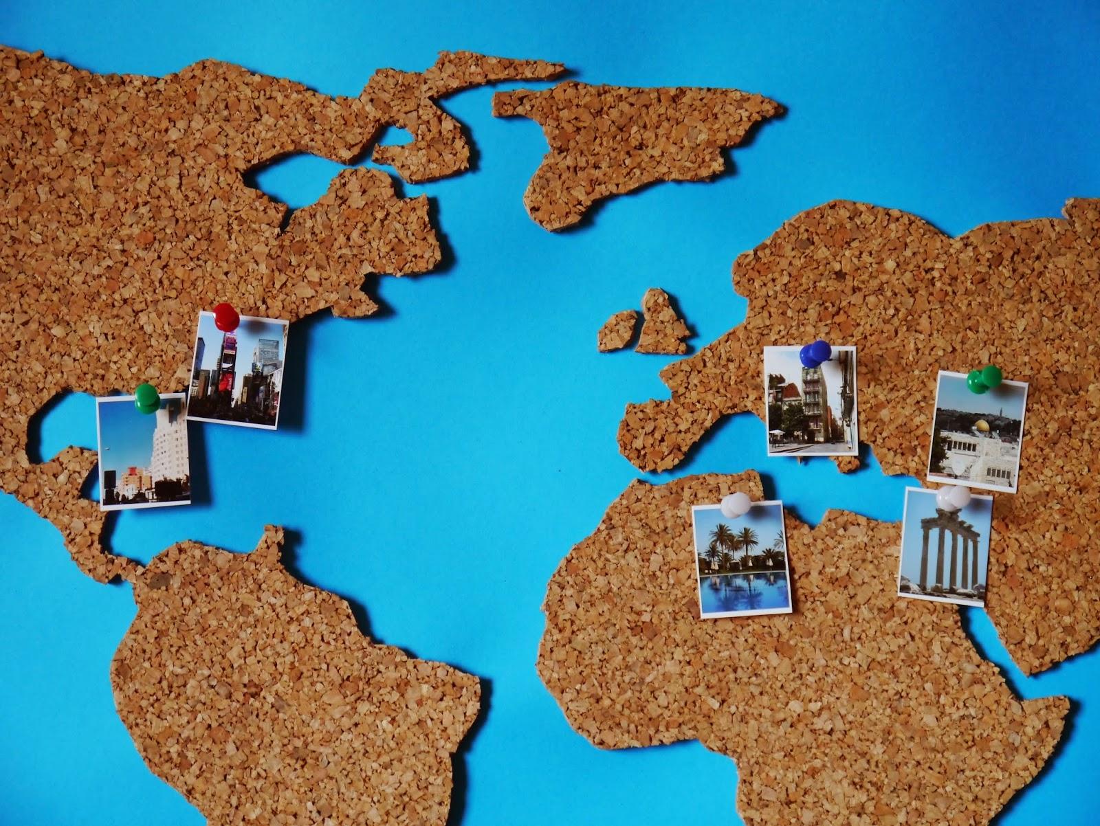 Impressionen umwege erweitern die ortskenntnis - Weltkarte basteln ...