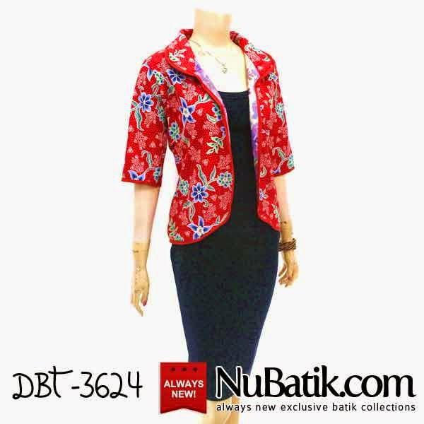 Jual Blouse Batik Model Bolero Modern Motif Batik Khas
