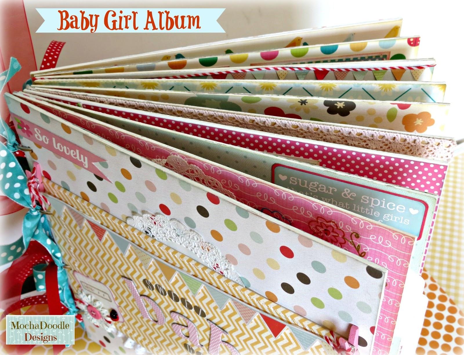 misty d designs sweet baby girl chipboard album