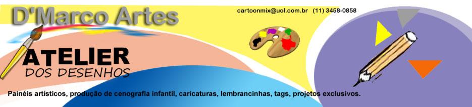 Atelier De Marco - Desenhos, painéis e caricaturas