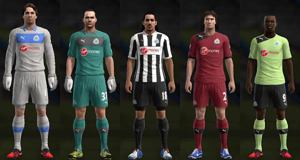 PES 2013 Newcastle United 2012/13 Kits by Santy Argentina