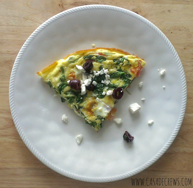 Greek Frittata for #SundaySupper - Casa de Crews