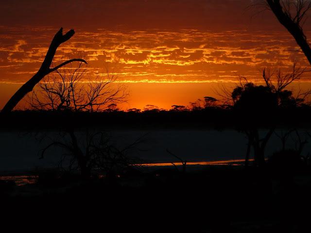 Incredible fiery sunset in Hyden Western Australia