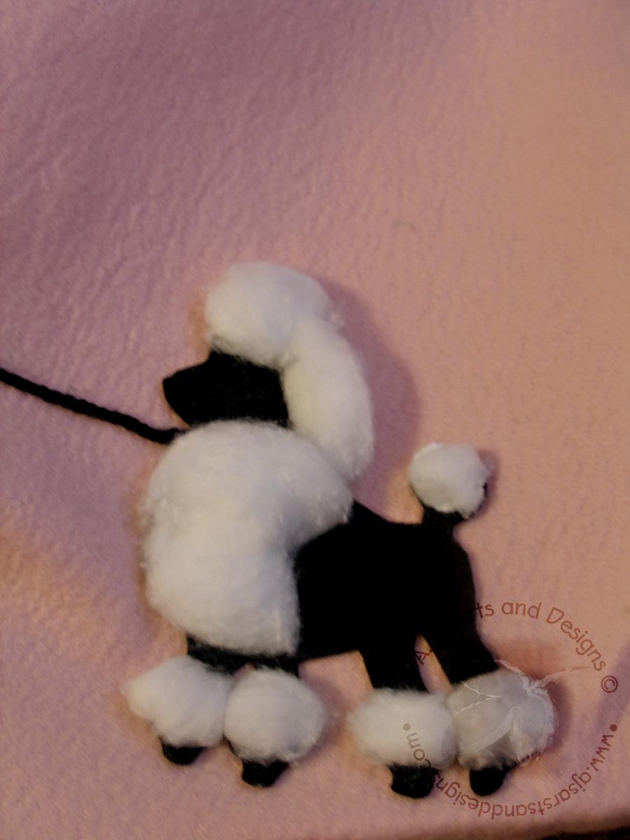I Added A Cotton Ball To Make The Poodle Fluffy Leash Is Black Yarn Glued Felt With AleenesR Fast Grab Tacky Glue