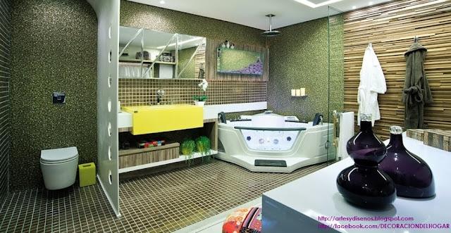 Ideas para Decorar Baño Moderno Bathroom Banheiros by artesydisenos.blogspot.com