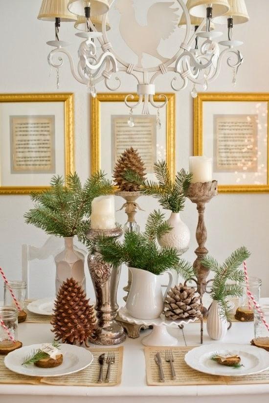 En el campo decoraci n navide a sencilla y natural - Decoracion navidena sencilla ...