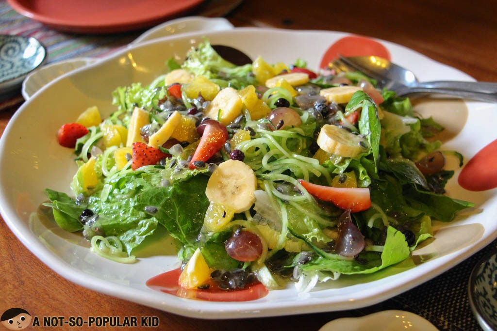 Fruity and excessively sour Chaya salad