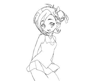 #9 Kotori Mizuki Coloring Page