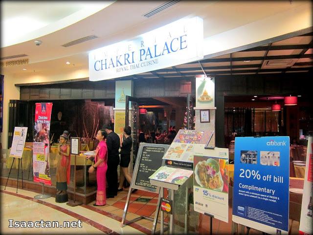 Imperial Chakri Palace Suria KLCC Royal Thai Cuisine