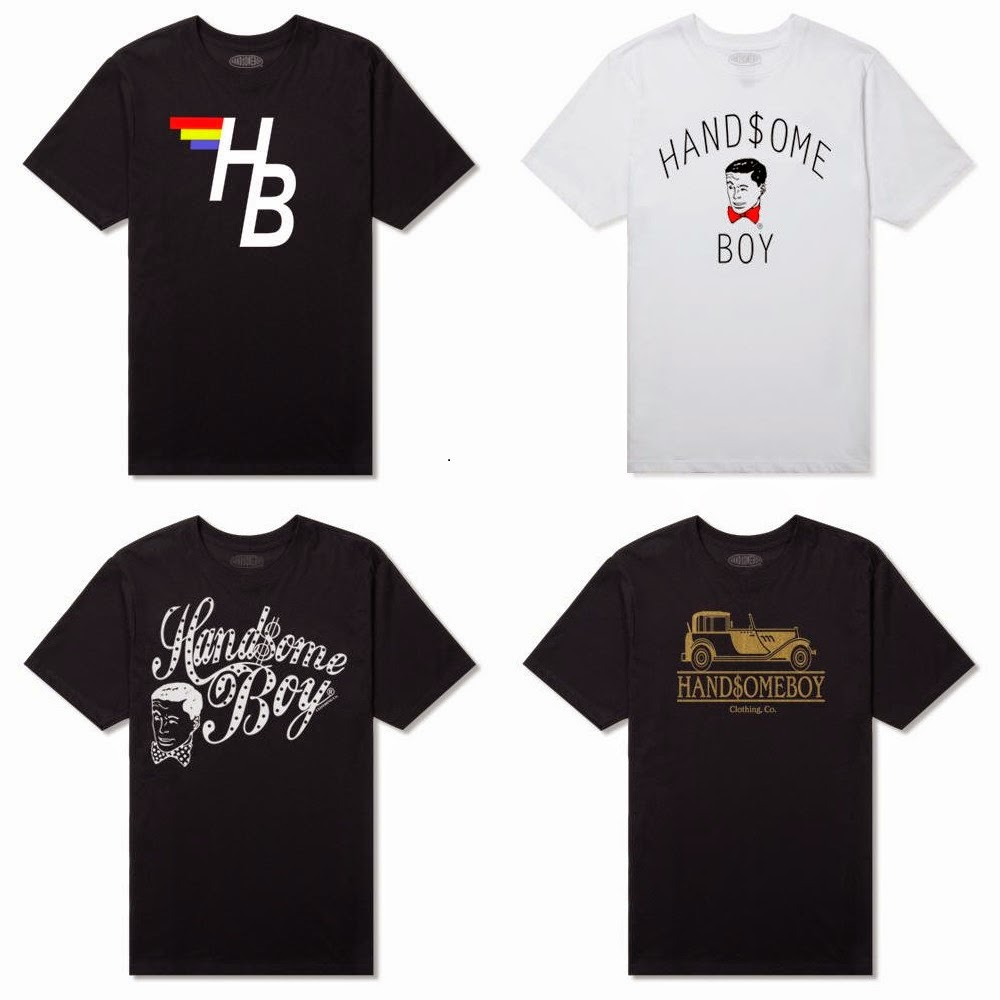Handsome Boy Clothing Co. T-Shirt Collection - HB Flag, HB Downtown, Heritage Script & Handsome Boy 1920