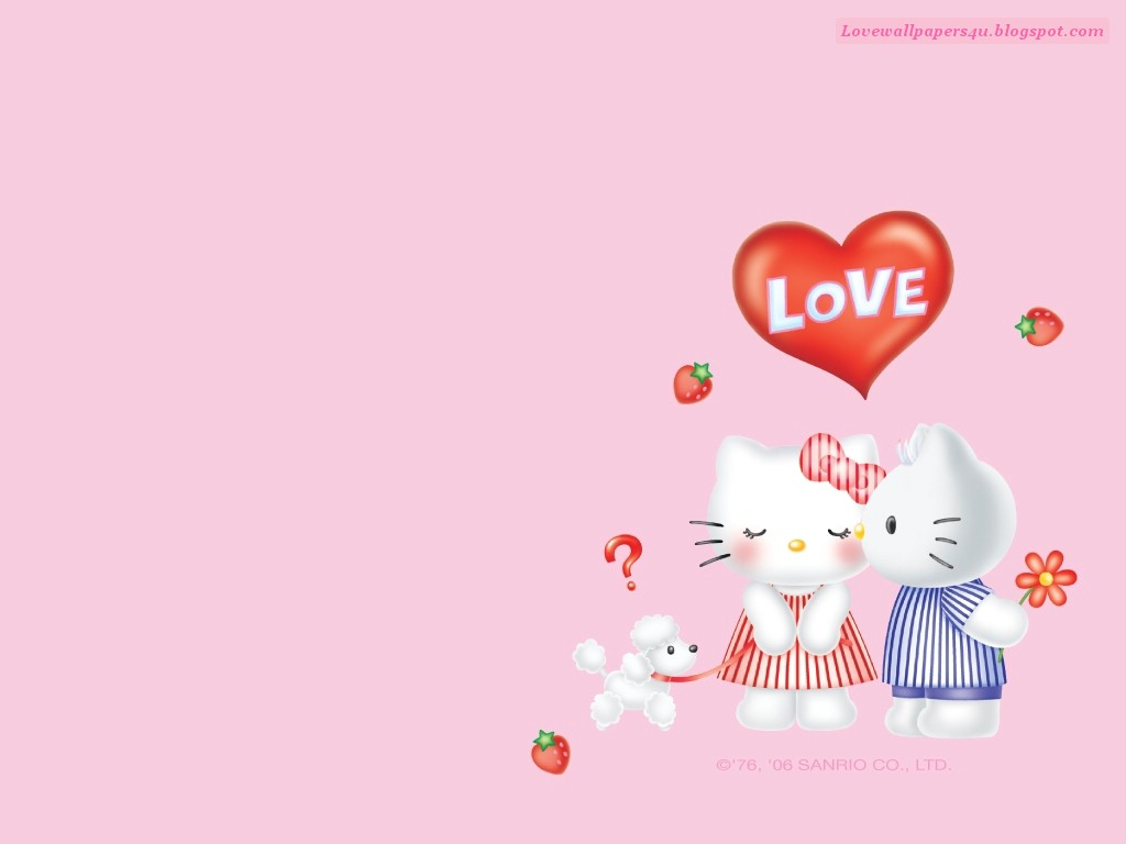 Best Love Wallpaper 2011 For Iphone 4 : Hello Kitty Love Love Wallpapers Romantic Wallpapers - Stock Photos iPhone Backgrounds
