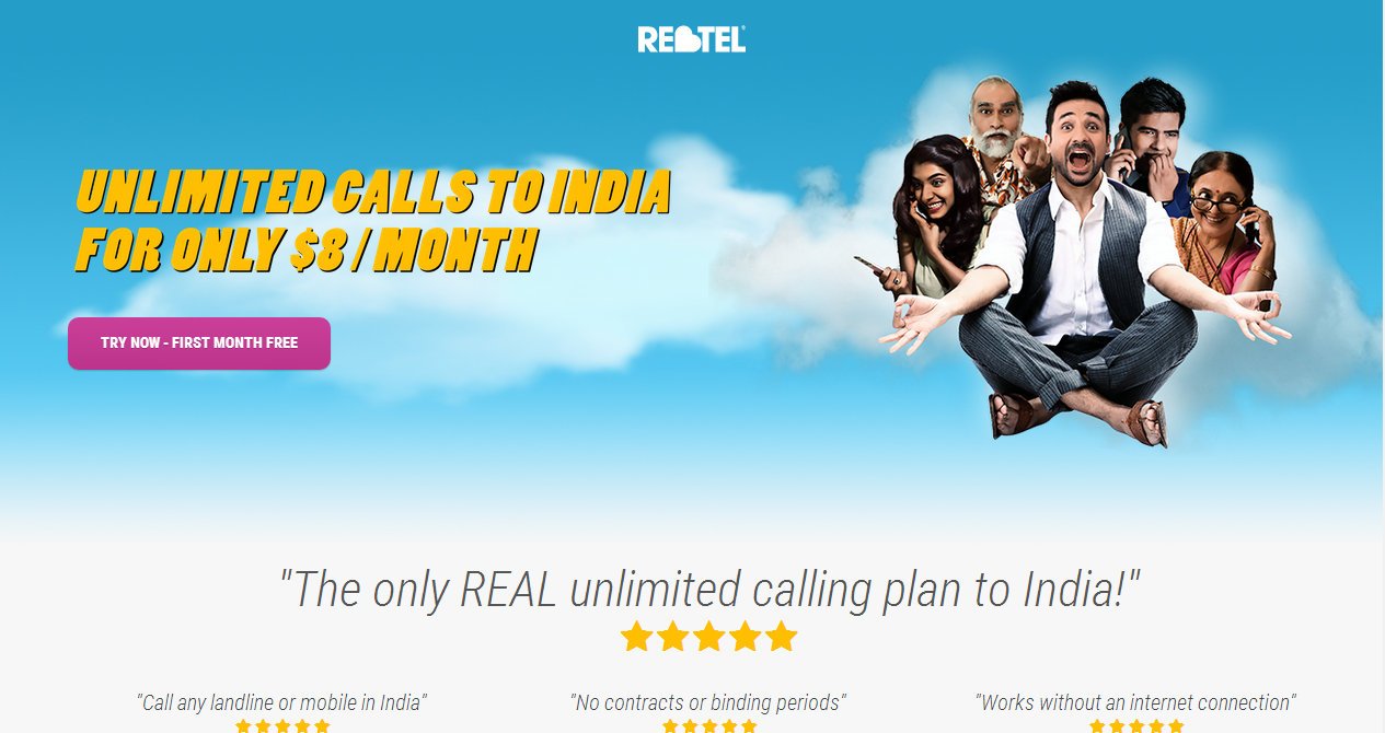 Unlimited cheap calls to Indian mobiles and landlines, $8 per month